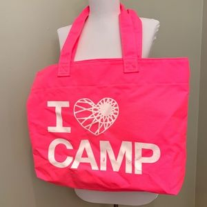 "ULTRA RARE! SoulCycle ""I Heart Camp"" Neon Tote Bag"